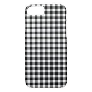 Coque iPhone 7 Motif noir et blanc classique de guingan