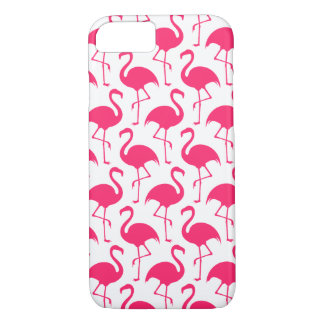 Coque iPhone 7 Motif rose tropical de flamant