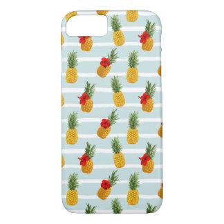 Coque iPhone 7 Motif sans couture d'ananas hawaïen d'été
