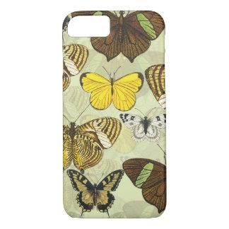 Coque iPhone 7 Motif vintage de diagramme de mite de papillon
