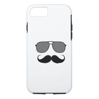 Coque iPhone 7 moustache et verres