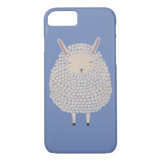 Coque iPhone 7 Moutons ronds de sommeil de points blancs