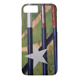 Coque iPhone 7 N.A., Etats-Unis, le Texas, lac Buchanan, drapeau