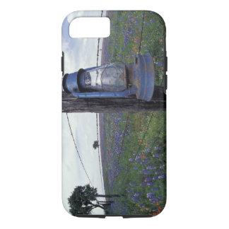 Coque iPhone 7 N.A., Etats-Unis, le Texas, Llano, lanterne bleue,
