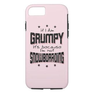 Coque iPhone 7 NE PAS FAIRE DU SURF DES NEIGES GRINCHEUX (noir)