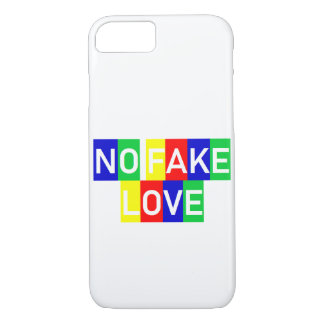 COQUE iPhone 7 NO FAKE LOVE LOGO PHONE CASE