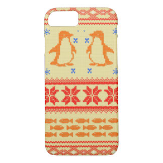 Coque iPhone 7 Nordic pattern penguin