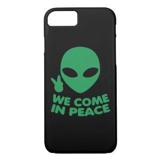 Coque iPhone 7 Nous venons dans l'alien de paix