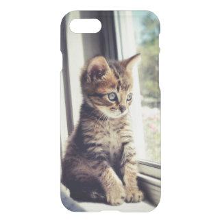 Coque iPhone 7 Observation tigrée de chaton