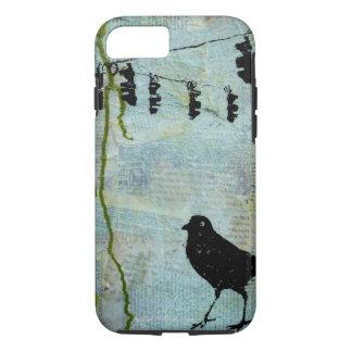 """Coque iPhone 7 Oiseau noir avec le feu d'arrêt """"caricature"""