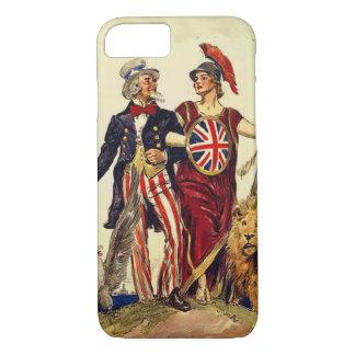 Coque iPhone 7 Oncle Sam et Britannia