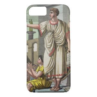 "Coque iPhone 7 Orateur romain, de ""L'Antica Roma"", 1825 (couleur"