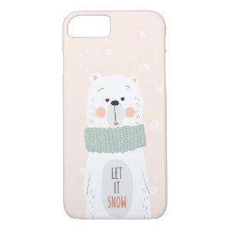 Coque iPhone 7 Ours blanc - laissez-le neiger - hiver/Noël