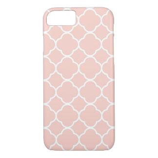Coque iPhone 7 Pâle - cas rose de l'iPhone 7 de Quatrefoil de