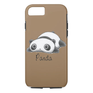 Coque iPhone 7 Panda mignon Brown pâle