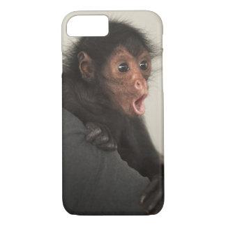 Coque iPhone 7 Paniscus rougeaud d'Ateles de singe d'araignée)