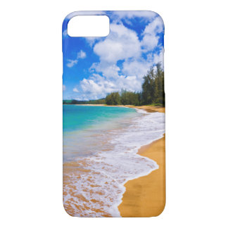 Coque iPhone 7 Paradis tropical de plage, Hawaï