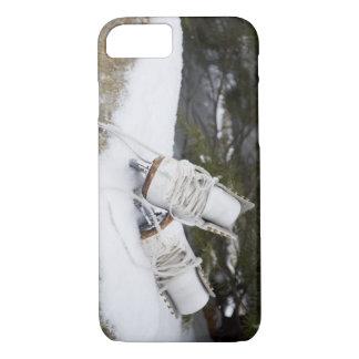Coque iPhone 7 Patins de glace, chiffre patins dans la neige