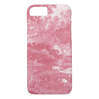 Coque iPhone 7 Paysage de French Toile de Jouy Shabby Counry