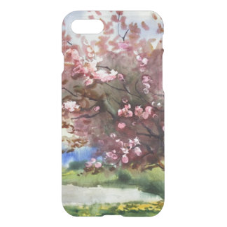 Coque iPhone 7 Paysage de peinture d'aquarelle
