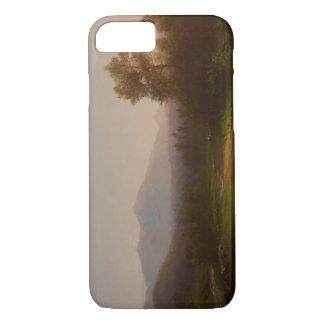 Coque iPhone 7 Paysage du fleuve Hudson, c.1860-5 (huile sur la
