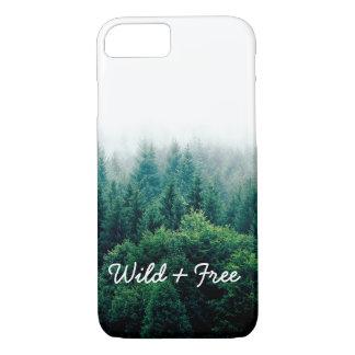 Coque iPhone 7 Paysage vert frais de forêt sauvage et libre