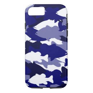 Coque iPhone 7 Pêche au bar bleue de Camo