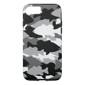 Coque iPhone 7 Pêche au bar Camo noir