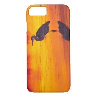 Coque iPhone 7 Pêche de héron de grand bleu (herodias d'Ardea) à