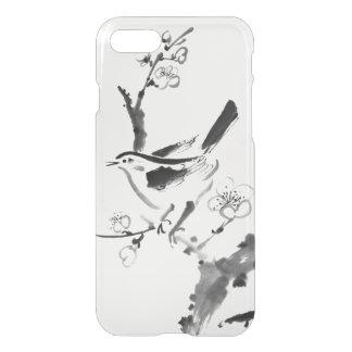 Coque iPhone 7 Peinture chinoise, fleur de prune et oiseau