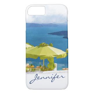 Coque iPhone 7 Peinture de Santorini Grèce