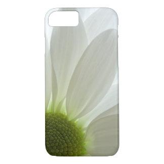 Coque iPhone 7 Pétales de marguerite blanche