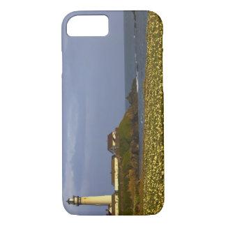 Coque iPhone 7 Phare à la plage d'état de point de pigeon en San