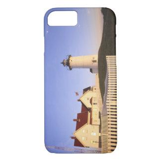 Coque iPhone 7 Phare de Nobska, trou en bois, le Massachusetts
