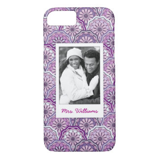 Coque iPhone 7 Photo faite sur commande et motif vintage de nom