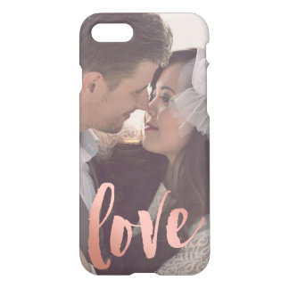 Coque iPhone 7 Photo faite sur commande rose de l'or | de l'amour
