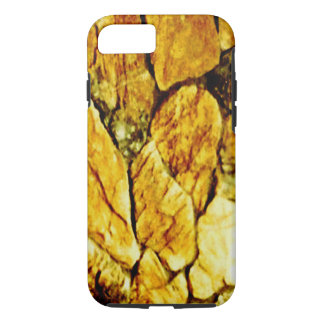 Coque iPhone 7 Pierres d'or