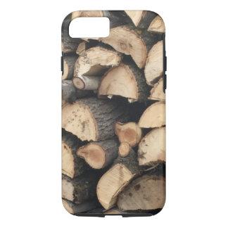 Coque iPhone 7 pile en bois de cas de l'iPhone 7
