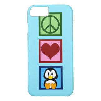 Coque iPhone 7 Pingouin bleu