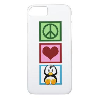 Coque iPhone 7 Pingouins d'amour de paix