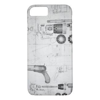 Coque iPhone 7 Plans originaux pour un revolver de dix-chambre