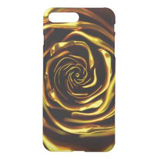 Coque iPhone 7 Plus 3d golden rose