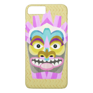 Coque iPhone 7 Plus Aloha monstre drôle de hutte de Tiki