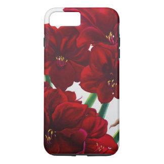 Coque iPhone 7 Plus Amaryllis rouge et blanche 2008