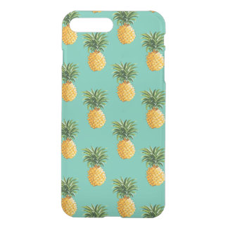 Coque iPhone 7 Plus Ananas tropicaux sur Teal