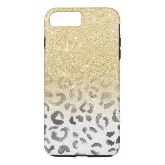Coque iPhone 7 Plus Aquarelle à la mode Girly de léopard de
