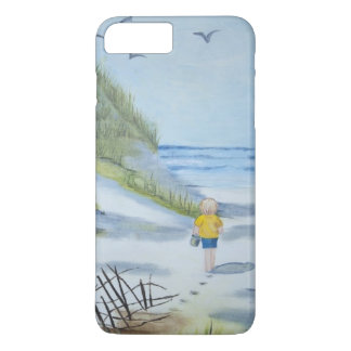 Coque iPhone 7 Plus Aquarelle de plage