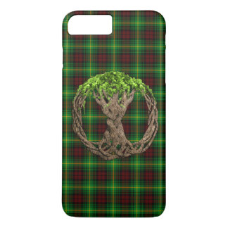 Coque iPhone 7 Plus Arbre celtique de tartan de Martin de clan de la