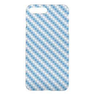 Coque iPhone 7 Plus arrière - plan Bleu-blanc de carrés