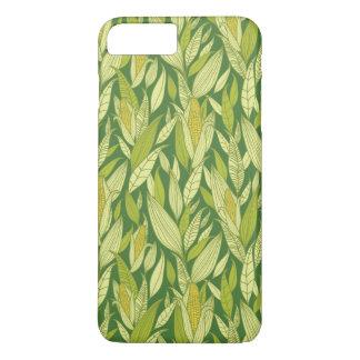 Coque iPhone 7 Plus Arrière - plan de motif de plantes de maïs